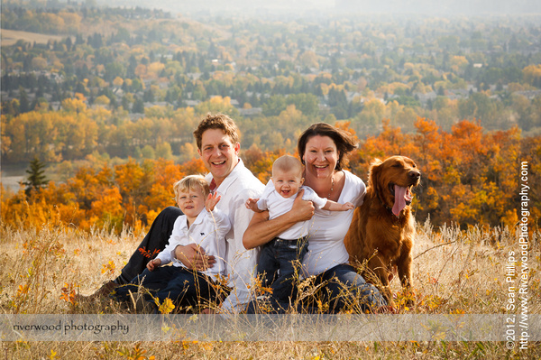 Fall Family Pet Portrait Session