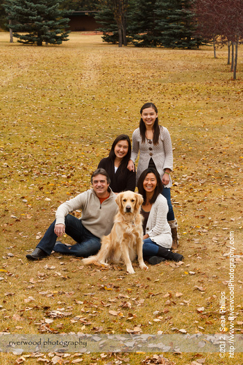 Family Fall Portrait at Edworthy Park
